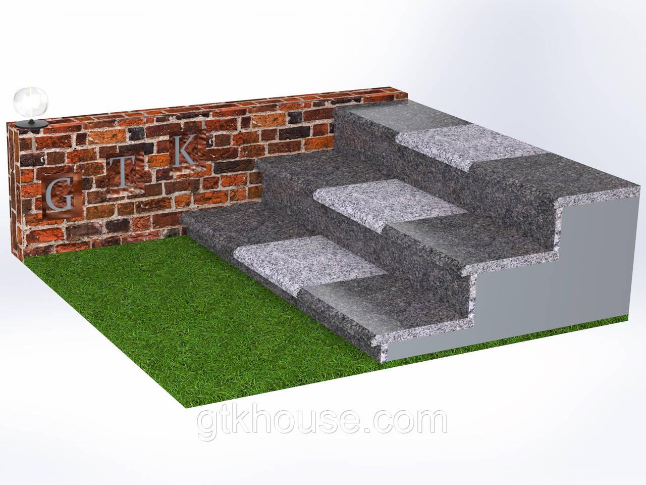 Плитка гранитная для ступеней Старобабаны