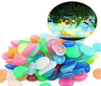 Камень светящийся фосфорный для аквариума 10 шт разноцветный