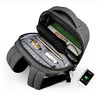 """Современный стильный городской рюкзак T-B3164U 14 """", серый, фото 9"""