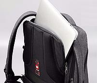 """Современный стильный городской рюкзак T-B3164U 14 """", серый, фото 10"""