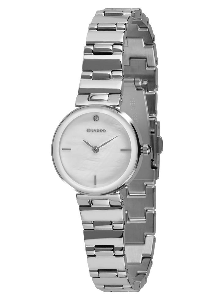 Годинники жіночі Guardo T01070-3 срібні
