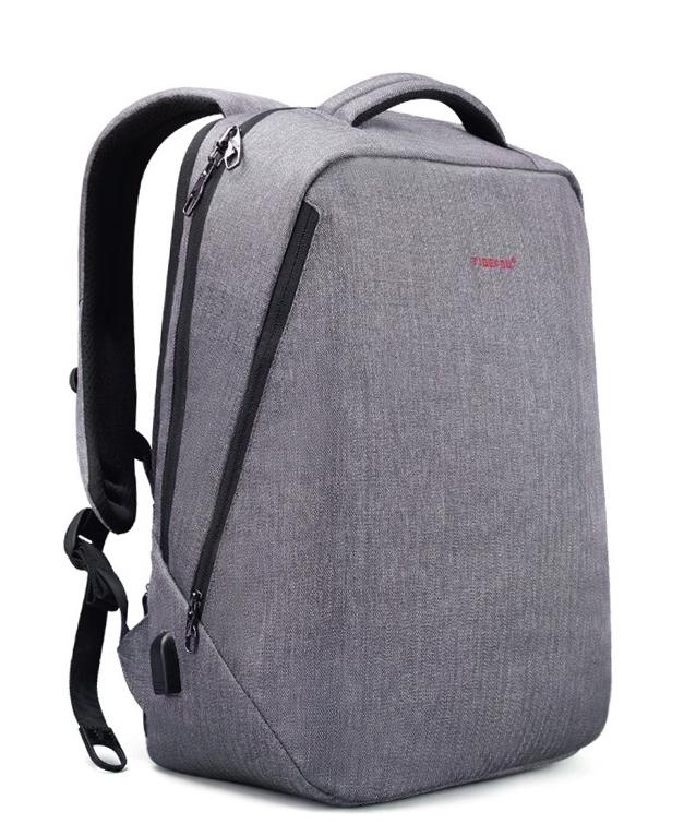 """Современный стильный городской рюкзак T-B3164U 14 """", серый"""
