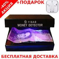 UV money detector ультрафиолетовый детектор подлинности валют AD-118AB + наушники iPhone 3.5