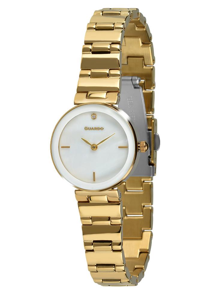 Часы женские Guardo T01070-6 золотые