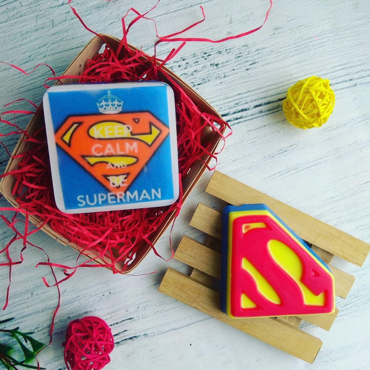 """Мыло ручной работы """"Супермен"""""""