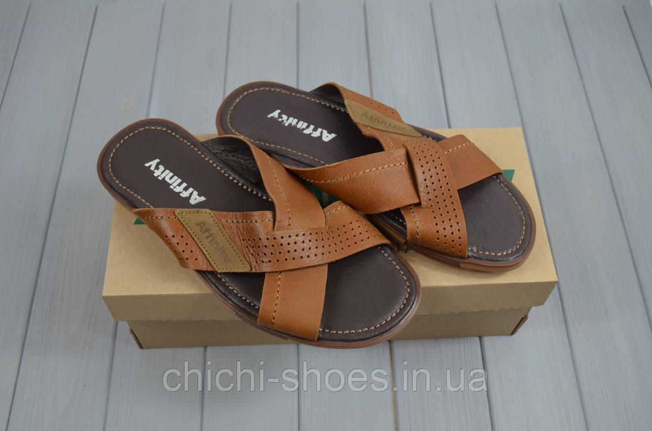 Мужские сандали Affinity 3646-18 коричневые кожа