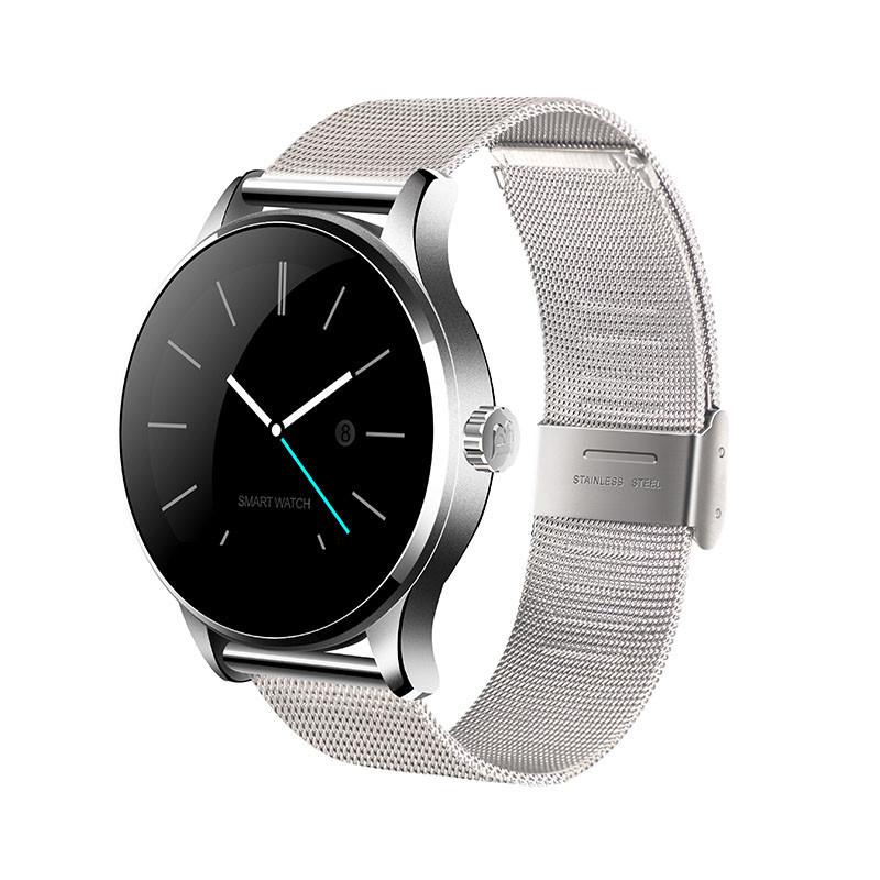 Smart watch K88H часы - Серебро, серебряный металлический ремешок