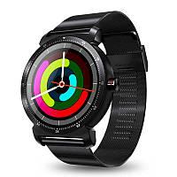 Smart watch K88H Plus - Черный корпус, черный металлический ремешок, фото 1