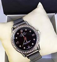 Женские наручные часы Rolex реплика с ремешком на магните чёрные, фото 1