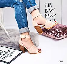 Босоножки на толстом каблуке, фото 2