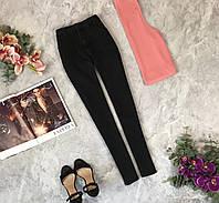 Аккуратные джинсы с черного денима  PN1922084