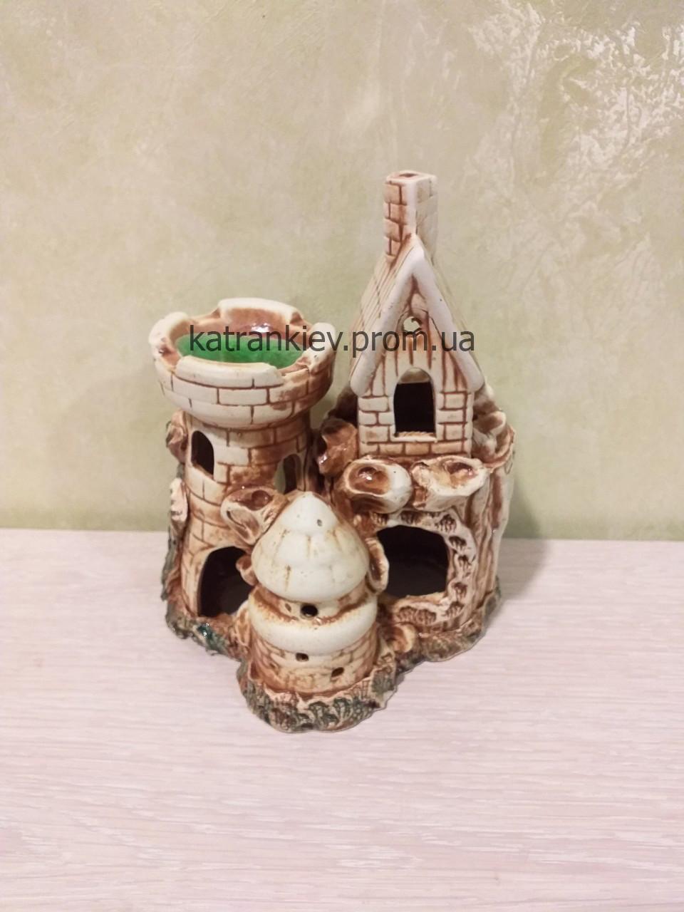 Декорация в аквариум домик, замок, башня декор для аквариума с 428