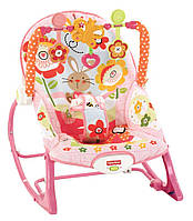 Fisher-Price зручний дитячий шезлонг крісло-качалка Зайчик