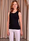 Майка-борцовка черная, фото 2