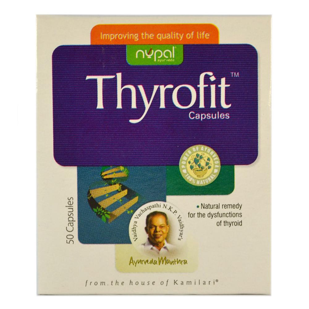Тирофит (Thyrofit Capsules, Nupal Remedies) для лечения дисфункции щитовидной железы, 50 капсул