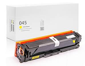 Совместимый картридж Canon 045 Yellow (жёлтый), стандартный ресурс (1.400 копий) аналог 1239C002 от Gravitone