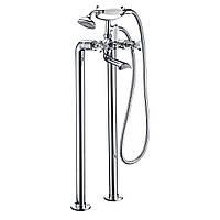 Смеситель напольный для ванны Imprese Cuthna Н-10280 STRIBRO