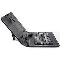 """☀Чехол Lesko 7"""" Black с клавиатурой microUSB надежный долговечный для планшета набора текста, фото 3"""
