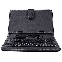 """☀Чехол Lesko 7"""" Black с клавиатурой microUSB надежный долговечный для планшета набора текста, фото 2"""