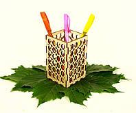 """Подставка для ручек деревянная """"Круги"""", LaserBox"""