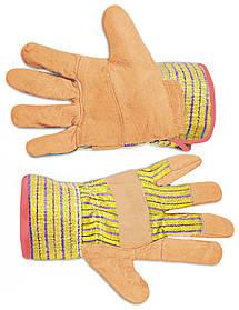 Перчатки рабочие Technics замшевые желтые (16-151)