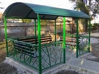 Беседка садовая с лавочками Полимер 2,7х4,2х3,0м