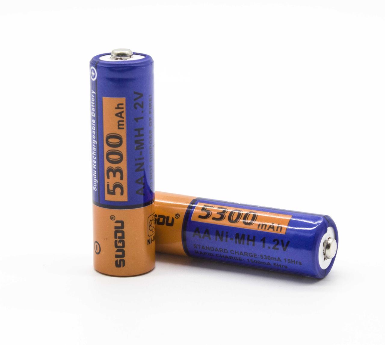 Пальчиковая аккумуляторная батарейка в блистере Sugdu 5300SD AA (комплект 2шт.)