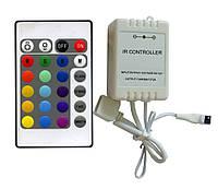 Контроллер для LED ленты RGB IK-управление 24 кнопки 72 ВТ.