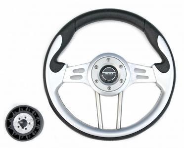 Рулевое колесо 330mm Pretech спицы серебро серый