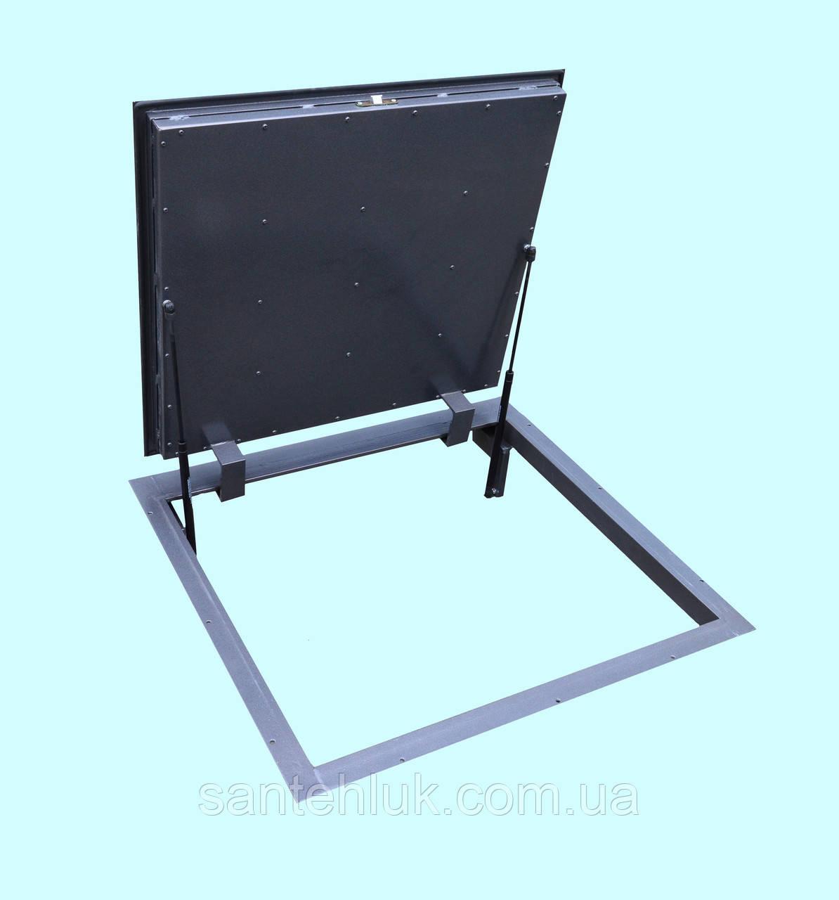 Напольный люк  герметичный утепленный 700*600 люк в пол, подвал на газовых амортизаторах.