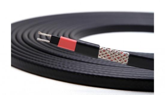 Саморегулюючий нагрівальний кабель 17 В/м чорний