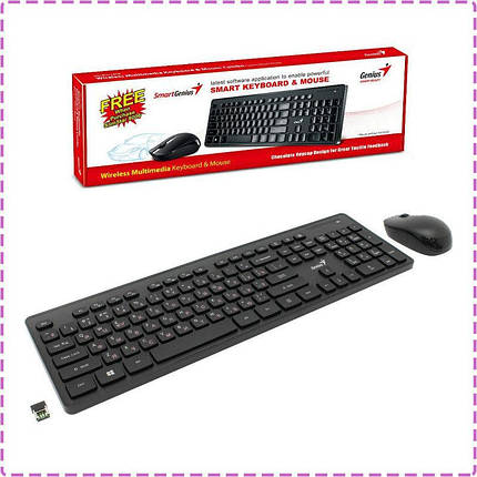 Комплект беспроводной Genius SlimStar 8006 Wireless Ukr (31340002406) клавиатура + мышь , фото 2