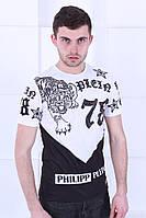 Белая мужская футболка  в стиле  Philipp Plein, фото 1