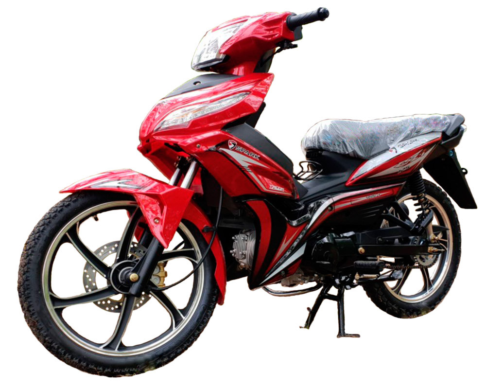 Мотоцикл SP125C-3 красный в сборе