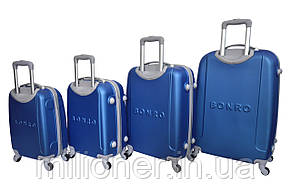 Чемодан Bonro Smile набор 4 шт. синий, фото 2