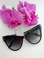 """Солнцезащитные очки Cat Eye или """"Бабочки"""" черного цвета классические (057), фото 1"""