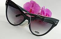 """Солнцезащитные очки Cat Eye или """"Бабочки"""" черного цвета классические (057)"""