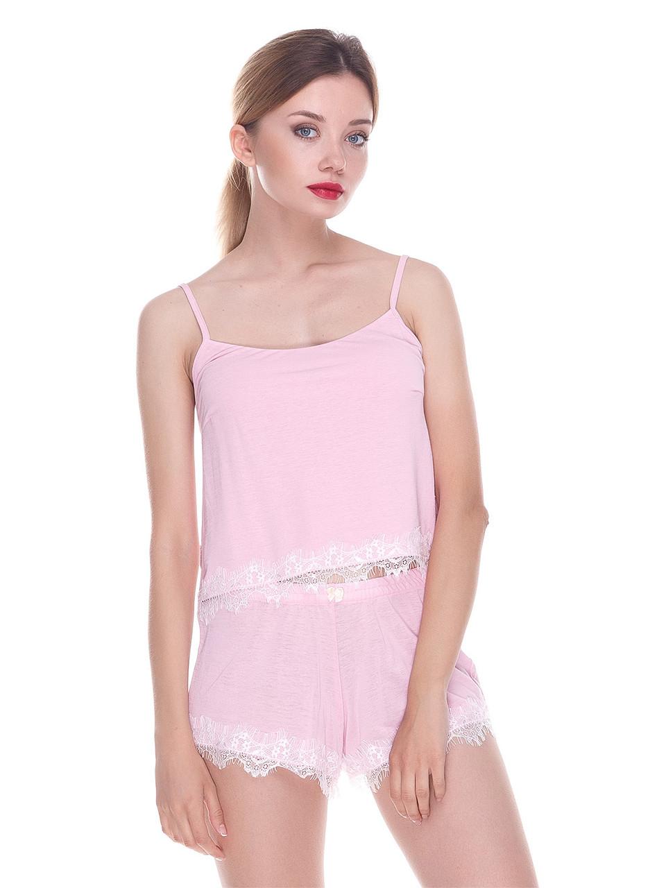 Комплект майка шорты Serenade розовый