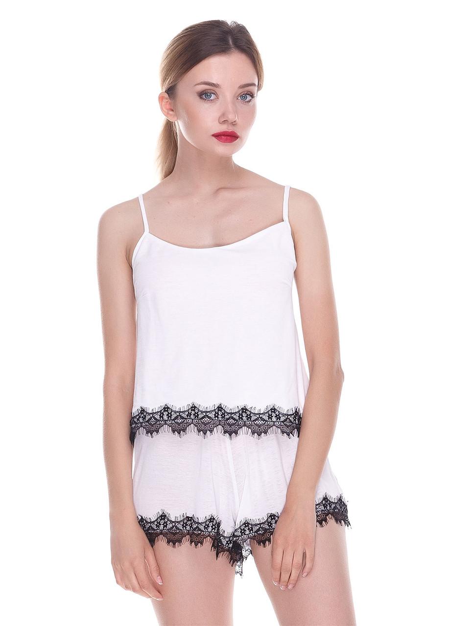 Комплект майка шорты Serenade белый