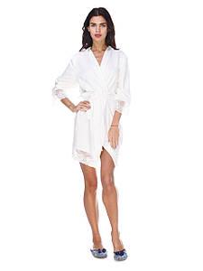 Комплект сорочка и халат вискоза с кружевом Serenade шампань