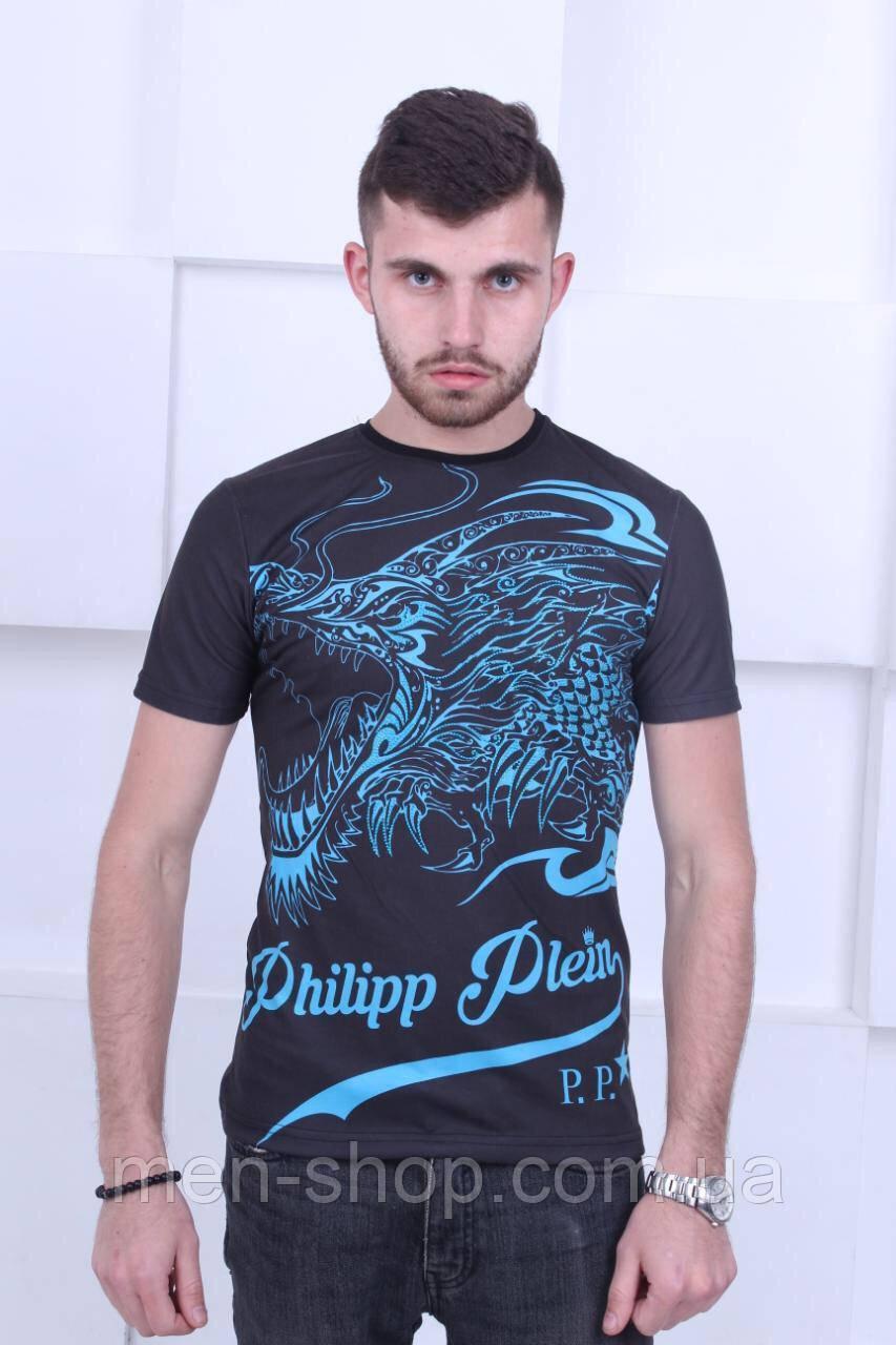 Мужская футболка в стиле  Philipp Plein Dragon