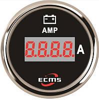 Цифровой амперметр Ecms диаметр 52мм черный