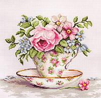 Luca-s Набор для вышивания Цветы в чайной чашке