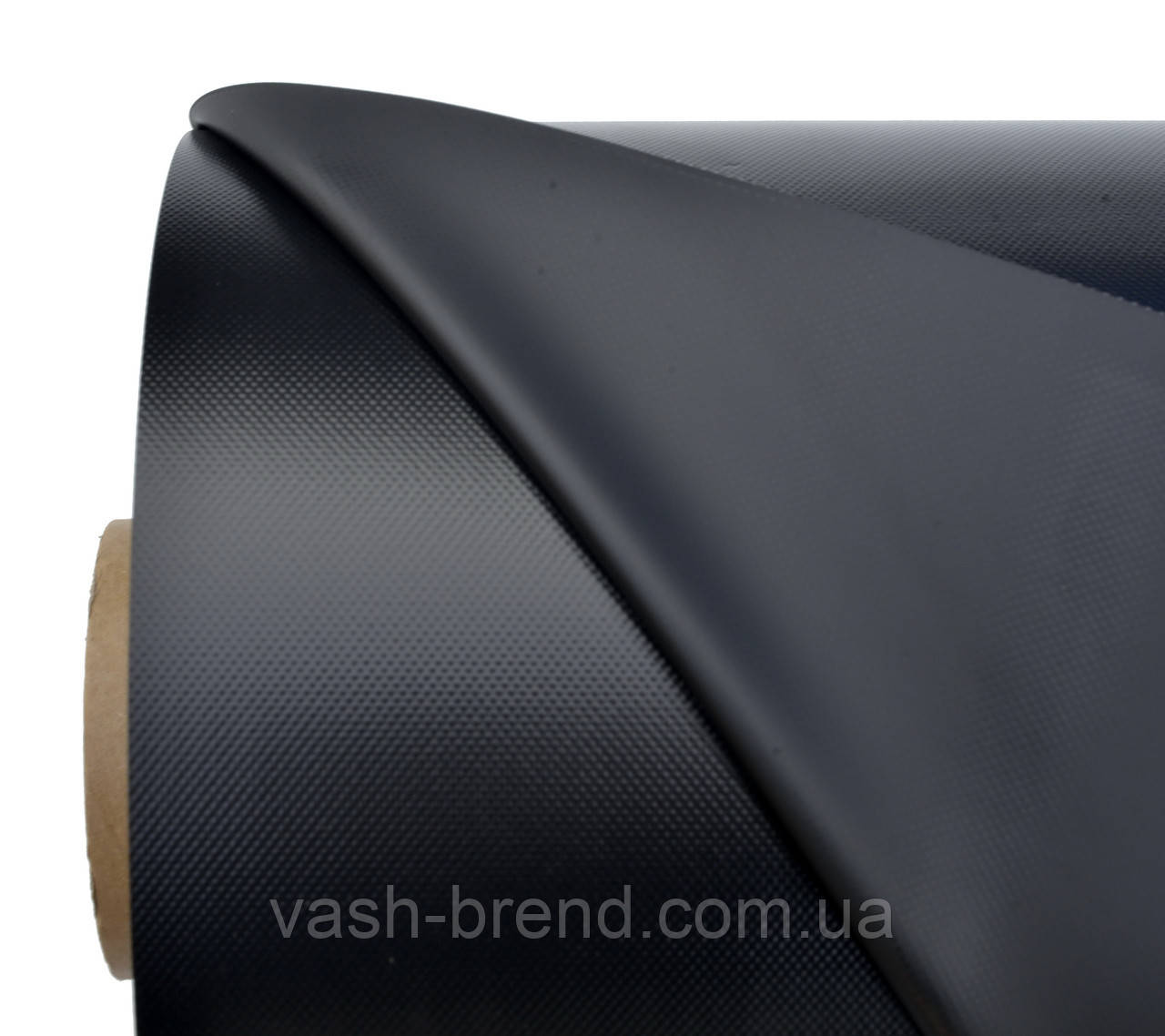 Ткань ПВХ (PVC) 50х2,05м черный, 950гр рулон