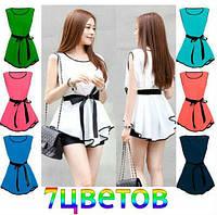 Женская нарядная шифоновая блузка - 7 цветов!