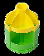 Підставка-вертушка Zibi JOY, канцелярська, 110х140 мм, 10 відділень, жовто-салатова (ZB.3019-0815)