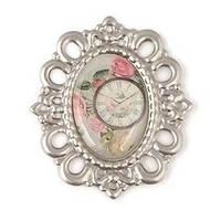 "Украшение-камея ""Роза и часы""_ French Journey от Scrapberry's"