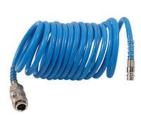 Шланг 7012011(850707) Sigma спиральный полиуретановый 6 x 8 мм, 5 м с быстросъемными соединениями