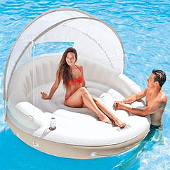Пляжний надувний диван Intex Canopy Island 199 х 150 см