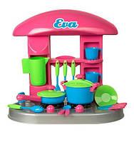 """Кухня детская с посудкой KinderWay """"Ева"""" (04-406)"""